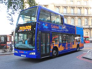 Golden Tours - Optare Visionaire bodied Volvo B9TL on Grosvenor Square in July 2014