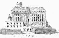 Zamek w XVIII w.