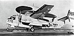 Grumman WF-2 Tracer of VAW-11 Det.L is launched from USS Hancock (CVA-19), in 1962.jpg