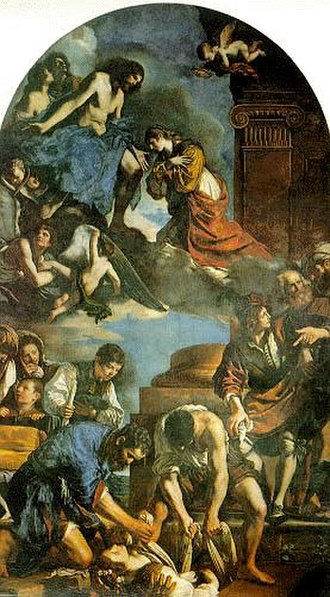 Saint Petronilla - The Burial of Saint Petronilla, by Guercino, 1621–22