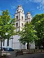 Guntersblum- Evangelische Kirche- von Marktplatz aus 30.7.2010.jpg
