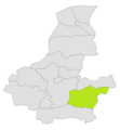 Gurziwan district location in map of Faryab province.png