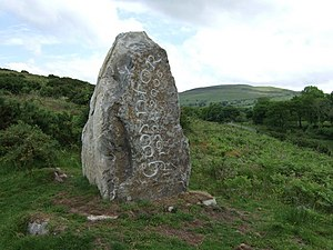 Gwynfor Evans - Gwynfor Evans memorial, on the approach to Garn Goch hillfort, near Llandeilo