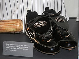 Shoes worn by Gwynn in 1997, when he batted .372 Gwynn's shoes.jpg