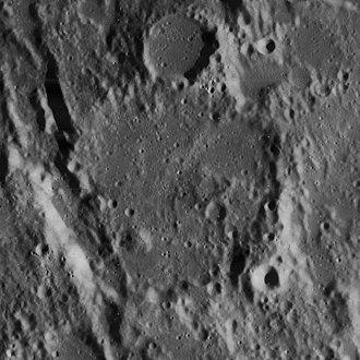 Gyldén (crater) - Lunar Orbiter 4 image
