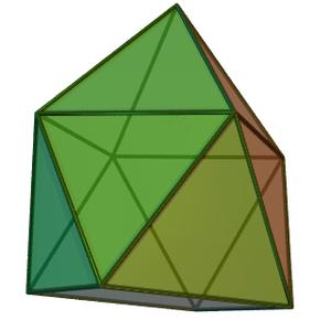 Gyroelongated square pyramid - Image: Gyroelongated square pyramid