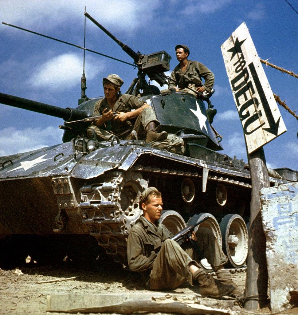 HA-SC-98-06983-Crew of M24 along Naktong River front-Korean war-17 Aug 1950.JPEG