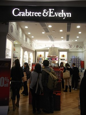 Crabtree & Evelyn - Image: HK Causeway Bay Hysan Place shop Crabtree & Evelyn Dec 2012