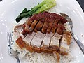 HK PFL campus 香港大學 HKU 黃克競大樓 Haking Wong Building catering outlet Union Restaurant (EAT) by Sodexo dinner rice 叉燒 BbQ pork meat 燒肉 pork meat 碟頭飯 May 2019 SSG 02.jpg