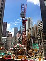 HK Sheung Wan 皇后大道西 Queen's Road West MTR Station construction site Aug-2011.jpg