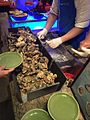 HK TST East 九龍香格里拉酒店 Kln Shangri-La Hotel buffet food shelled Oyster May 2016.jpg