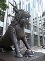 HK Wan Chai China Resources Building animal statue 03 Xiezhi Oct-2012.JPG