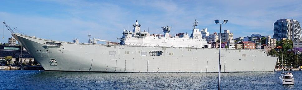 HMAS Adelaide (L01) at Fleet Base East in Nov 2015