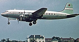 Handley Page Hermes - Hermes IV of Air Safaris at Manchester Airport in 1961