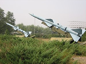 HQ-2 missiles, China Aviation Museum.jpg