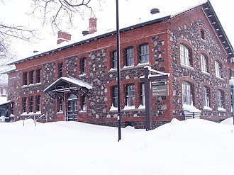 Calumet and Hecla Mining Company - Main office of the Hecla and Calumet Mining Company (now the headquarters of the National Historical Park)