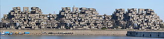 Brutalist architecture - Habitat 67 in Montreal, Quebec, Canada, is a Brutalist building.