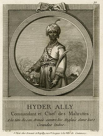 Hyder Ali - According to French accounts, the Marathas conspired to make Hyder Ali their leader in the year 1762.