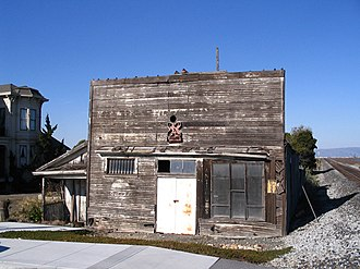 National Register of Historic Places listings in Santa Clara County, California - Image: Haines Grocery Alviso 2007 medium size