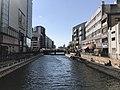 Hakatagawa River from Meijibashi Bridge 2.jpg