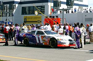 Joe Gibbs Racing - The original No. 11 car driven by Jason Leffler in 2005.