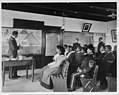 Hampton Institute, Hampton, Va., 1899 - male and female African American and Indian students in Ancient History class studying Egypt 2001703810.jpg