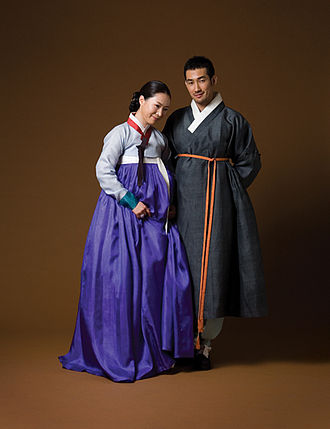 Koreans - Image: Hanbok (female and male)