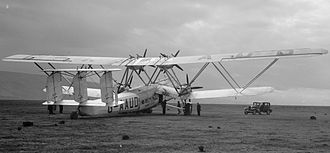 Biplane - The Handley Page H.P.42, a large all-metal biplane airliner of the 1930s. Note the Warren truss interplane struts.
