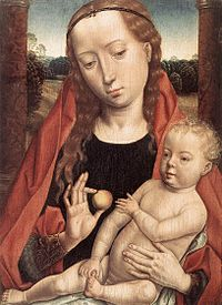 Hans Memling - Virgin with the Child Reaching for his Toe - WGA15001.jpg