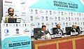 """Hansraj Gangaram Ahir addressing at the inauguration of the conference on """"New Horizons for Plastics Industry"""", organised by the FICCI, in New Delhi on December 08, 2014.jpg"""