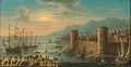 Harbor scene with fortress by Orazio Grevenbroeck.jpg