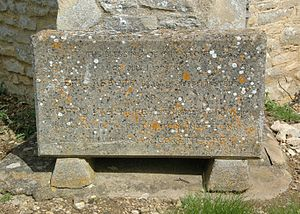 Cokethorpe School - Stone commemorating restoration and extension of the school chapel in 1973