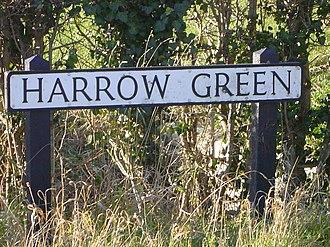 Harrow Green - The street sign for Harrow Green