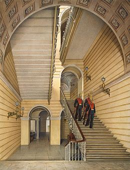 Hau. Interiors of the Winter Palace. The Church Staircase. 1869.jpg