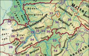 Rhenish Massif - Image: Haupteinheitengruppe n Rheinisches Schiefergebirge