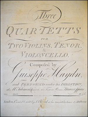 Hanover Square Rooms - Image: Haydn String Quartets Op 65
