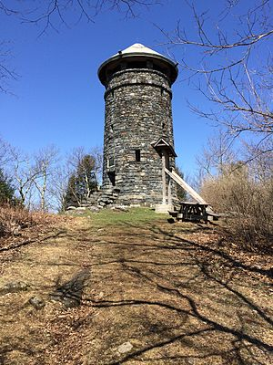Haystack Mountain (Connecticut) - Observation tower atop Haystack Mountain