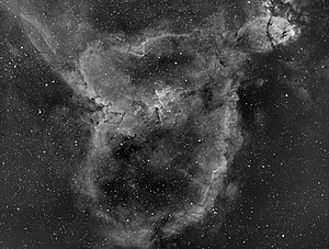 Heart Nebula - The Heart Nebula captured  using an H-alpha filter.