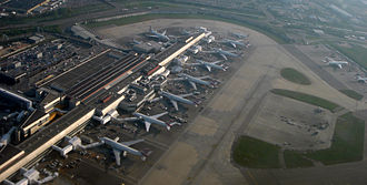 Heathrow Terminal 4 - Aerial view of terminal 4
