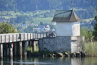 Heilig Hüsli - Image: Heilighüsli Holzbrücke Rappersil HSR 2015 05 27 17 58 04