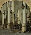 Hendrik Cornelisz. van Vliet - View inside the Saint Bavo Church in Haarlem During Mass - Google Art Project.jpg