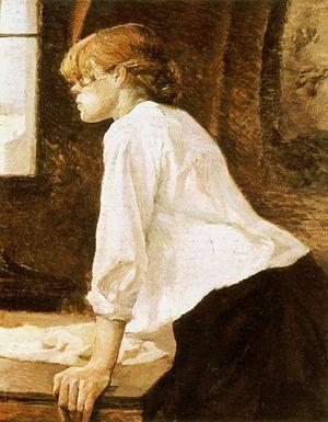 De strijkster - '' La Blanchisseuse'' (1884-1888) by Henri de Toulouse-Lautrec