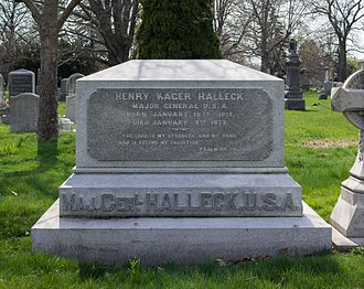 Henry Halleck - Burial site at Green-Wood Cemetery in Brooklyn, New York.
