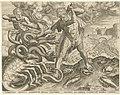 Hercules overwint de Hydra van Lerna Werken van Hercules (serietitel), RP-P-H-H-1138.jpg