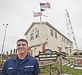 Heroic USCG Fireman James D. Sanders, Jr., outside USCG Station Fort Macon - 160520-G-LS819-003.jpg