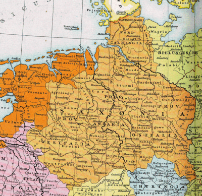 Duchy of Saxony around the year 1000