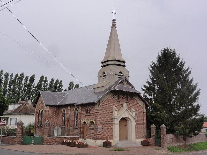 Hinacourt (Aisne) église Notre-Dame