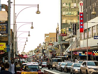 Hindley Street, Adelaide - Hindley Street, facing west
