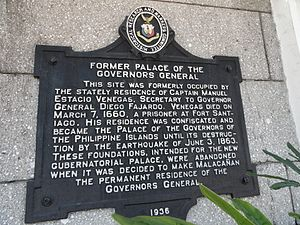 Palacio del Gobernador - Historical marker installed by the National Historical Commission of the Philippines to mark the building as a historical landmark.
