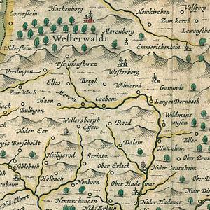 Guckheim - Historical map of Guckheim and neighbouring communities